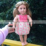 2016 American Doll Lace Dress Fits 18'' American Girl Dolls For Girl's Christmas Gift