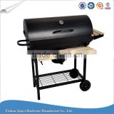 Large Barrel Outdoor Barbecue with Ash Catcher Charcoal BBQ Grill