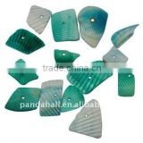 Sea Shell Beads, Dyed, Turquoise, about 8~17x5~7x4~6mm, hole: 2mm, about 640pcs/500g(BSHE-S008-1)