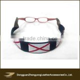 Promotional custom leather sunglasses strap, alabama flag sunglass neck webbing strap