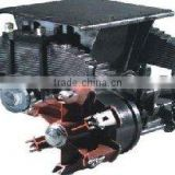 Semi trailer spoke bogie axles