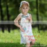 European Style Children Dress Chiffon Flower Sleeveless Beautiful Girl Summer Wear GD80723-12W