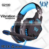 Wholesale EACH G2100 3.5mm&USB 7.1 Surround Sound Wired Game Headphone Gaming Headset with Mic LED Light for PC Mobile Phone