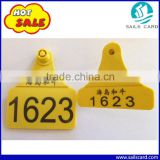 Yellow ear tag TPU material calf cattle ear tag in 78*56mm                                                                         Quality Choice