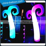 Color changing outdoor inflatable led light cone tree for party event decorations
