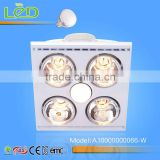 Traditional Ceiling 3-In-1 Multifunction Four Lamps exhaust fan with light and heater for bathroom