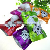Laminated plastic bag stand up spout pouch for liquid package/spout pouch plastic drinking water bag