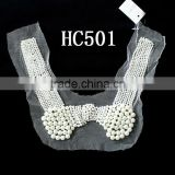 wholesale ladies pearl and beads handmade for garment neckline