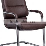 High quality brown pattern pu soft guest office chair A317-X13 Anqiao office chair factory