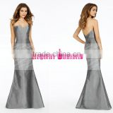 Simple Mermaid Long Taffeta Bridesmaid Dress Maid Of Honor Dress ZY558