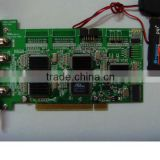 Linux DVR card 4 channel video,4channel audio,one PC support 4pcs card