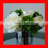 Artificial potted flower - rose and hydrangea arrangement
