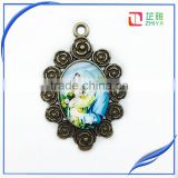 2015 factory product Maria and Jesus jewelry cabochon for Christmas brooch ,cameo brooch