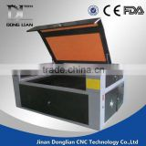 jinan Donglian 6090 glass cup laser engraving machine wood furniture keyboard