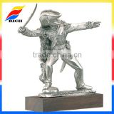 custom pewter alloy clay sculpture metal figurine