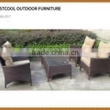 factory sale outdoor wicker rattan garden furniture sofa set OEM