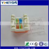 Cat.6 RJ45 unshielded module jack for cat 6 network cable connecting (Guangzhou supplier)
