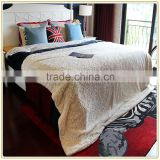 "Hot Sales Super Soft 60"" x 84"" Luxury Chinchilla Ivory Faux Fur Throw Blanket Made In China"