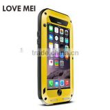LOVE MEI Metal Cover for 6 plus Metal Case Water Dirt Shock Proof Gorilla Glass