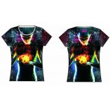 Inquiry about Latest design cotton T-shirt Sublimation Digital print custom