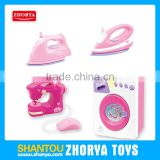 Pretend Play & Preschool Electric iron Washing Machine & Sewing machine Housework Wash clothes toys suit for baby girls