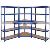 metal steel MDF corner shelving units
