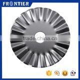 Stainless Steel 440 Fabric Mat Quilting Pinking Circular Blade 45mm, 45mm Pinking Cutter Blade Factory