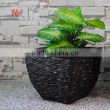 Different Style Home Garden Handmade Black Stone Molds Garden Resin Flower Pot