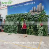 SJLJ013321 artificial grass wall / plastic green wall / fake plant wall for wall decoration
