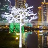 Home garden decorative 500cm Height outdoor artificial white flashing LED solar lighted up trees EDS06 1432