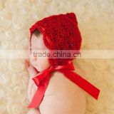 Cute Red Triangle Hat Newborn Crochet Outfits Baby Hat Baby Cap Newborn Photography Props All For Child Clothing and Accessories