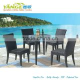 rattan wicker materials outdoor furniture table with chairs bistro set
