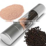 kitchen 2 in 1 Salt and Pepper Stainless Steel Grinder Set Pepper Mill and Salt Mill Shakers