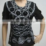 2012 NEW beads and fashion embroidery top