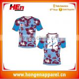 Hongen apparel England traditional rugby shirt custom sports jerseys training shirt by full sublimation