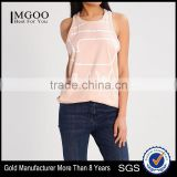 MGOO Wholesale Sublimation Printing Loose Fit Tank Tops For Women Drop Armhole Racer Back Singlet