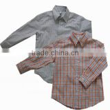 R&H Striped Lapel casual Shirt for Boys with long sleeve