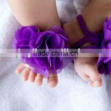 Wholesale Baby shoes new style foot flower infant foot wear sandals walker shoes Barefoot Sandals