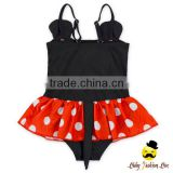 Fitness Cute Cartoon Character Strap Kids Flash Bow One Piece Little Girl Children Beach Clothes Swimwear