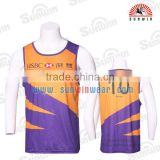 polyester customized latest basketball wear sleeveless t shirt uniform