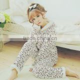 Factory supply low price fleece soft custom pajamas for girls lovely