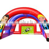 AOQI inflatable bowling track with small zorb ball for children