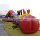 Inflatable tunnel game/inflatable track/fun tunnel/inflatable channel sports games/inflatable worm toy