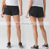 Running shorts Wholesale 2017 oem custom blank quick dry women sports gym running shorts with pocket