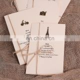 New arrive handmade paper greeting cards designs metal charm creative greeting card