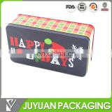 custom printed empty Iron tin gift can box