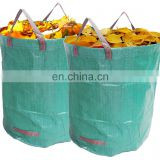 72 Gallons Reusable Heavy Duty Gardening Bag / Reusable Garden Leaf Bag With Green Tarpaulin