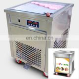 Drop shipping single circle pan fried ice cream machine with three cold storage barrels smoothies maker