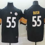 Pittsburgh Steelers #55 Bush Black Jersey