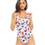Fashion Cute Printing Ladies One Piece Swimwear Women Bikini swimsuit